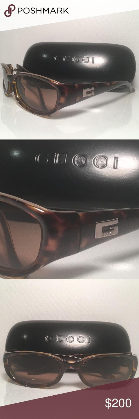 Authentic Gucci Tortoise Sunglasses 2456/s Gucci Tortoise Sunglasses 2456/s  These are gorgeous authentic GUCCI Sunglasses 2456/S.  These sunglasses feature the traditional design seen in Italian films of the 1950's and have the iconic Gucci G on the sides. They are best used poolside at the resort under the sun while sipping an ice cold lemonade.  These are prescription sunglasses the frame is in excellent condition and could be used with different lenses.  Made in Italy 🇮🇹 Gucci…