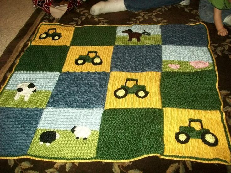 Looking for crocheting project inspiration? Check out Tractor Baby Afghan by member sweettems.