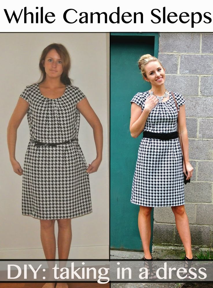 Refashion - taking in a dress from @Kara Morehouse Morehouse Morehouse Morehouse Morehouse Muehlmann on BrassyApple.com #sewing