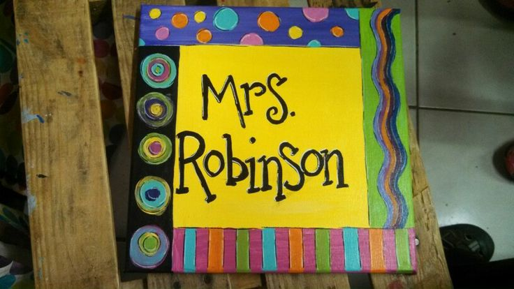 Teacher name canvas