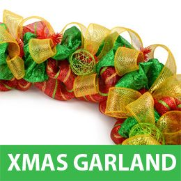 Making a Christmas Garland with Deco Mesh tutorial