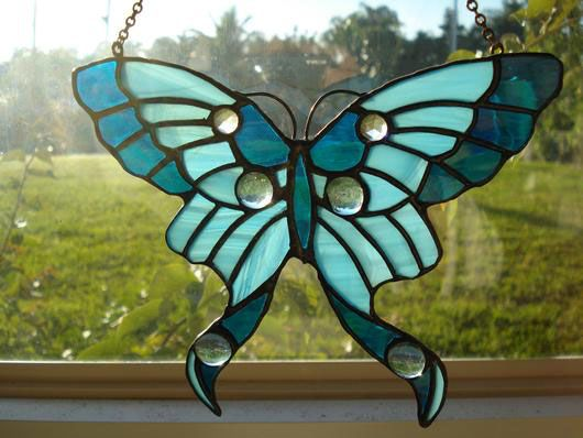 17 best images about stained glass butterfly on pinterest for Butterfly stained glass craft