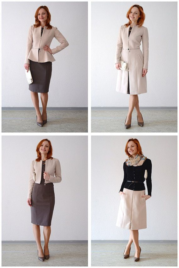 PRODUCT DESCRIPTION:  Sewing pattern of a transformable jacket/coat/skirt/bolero plus step-by-step E-book with sewing tutorials. This sewing
