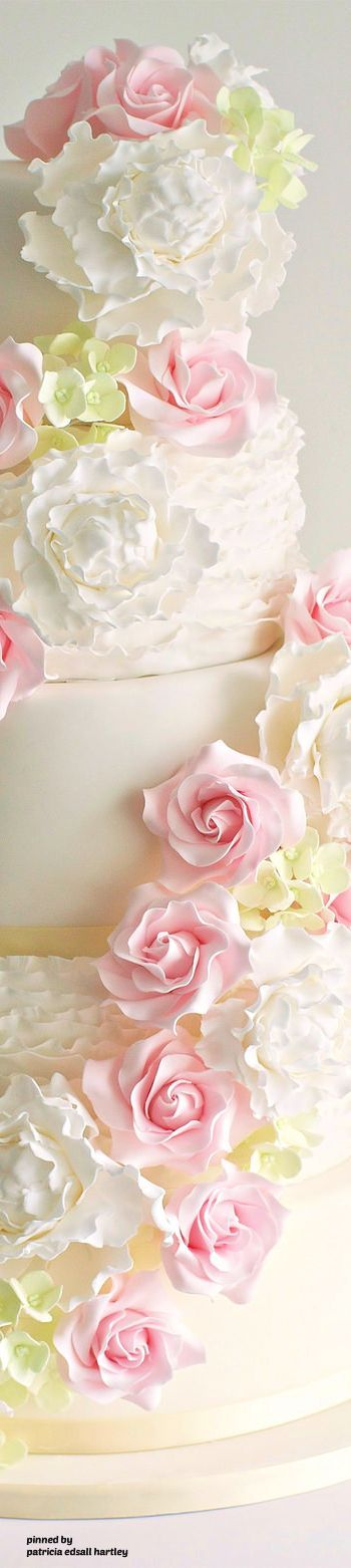 cake and peonies, roses,Saved By Antonella B.Rossi