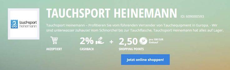#Lyoness Partner Tauchsport Heinemann | Online Shopping mit Cashback & Shopping Points: https://www.lyoness.com/de/stores/de-de/609000593-tauchsport-heinemann
