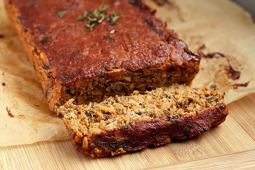 """The best lentil """"meat"""" loaf you will ever have. Promise. Gluten-free and vegan!"""