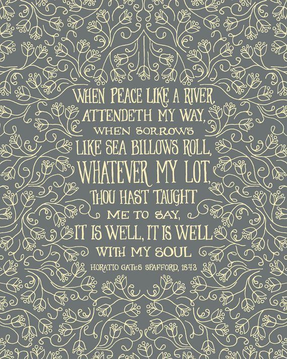 { well with my soul }