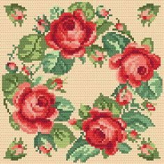 floral picture  cross stich patterns  @Annamarie Fontaine Collection