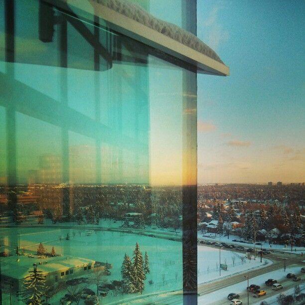 Winter sunset in Edmonton