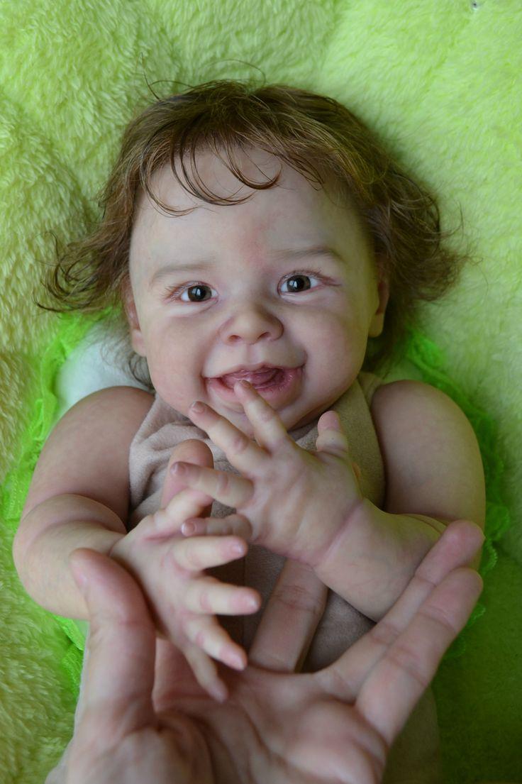 Продам замечательную и позитивную малышку реборн Томуську из молда Харпер Harper by Andrea Arcello. Куколка просто прелесть, в ней сочетается / 700USD