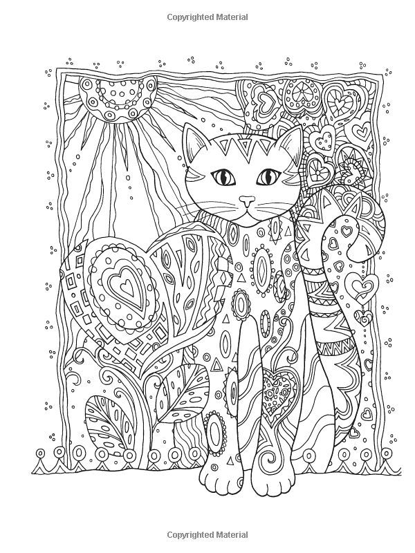 Dover Publications Creative Haven Cats Coloring Book Artwork By Marjorie Sarnat 16 Best Mandaly A Antistres Omalovanky Images On