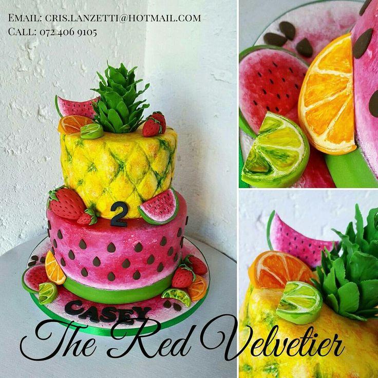Summer fruity inspired cake 😍😍