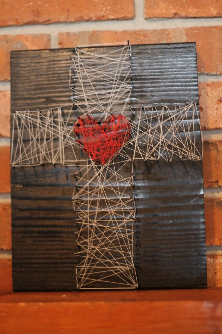 Lenten nail and string art for Diy nail and string art
