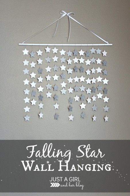 Simple and beautiful falling star wall hanging