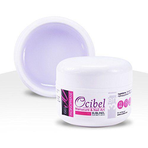 Gel UV Monophase 3 en 1 (Base Construction Finition) Sans Acide – 15 ml – Manucure, Faux Ongles & Nail Art: – Auto-égalisant – Sans Acide –…