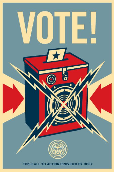 """""""VOTE"""" POSTCARD… FREE FOR A LIMITED TIME - OBEY GIANT"""