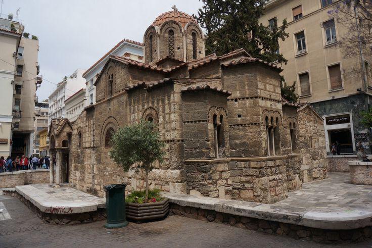 Byzantijnse kerk in centrum Athene
