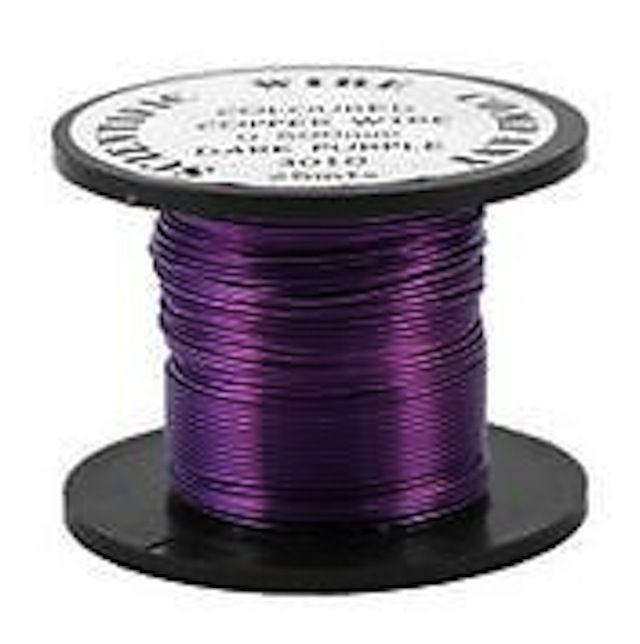 Copper Coloured Wire, Dark Purple, Copper Wire, Coloured Wire, Purple Wire £3.25