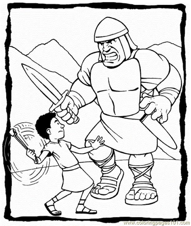 david & Goliath printables | free printable coloring page David And Goliath 3 (Other > Religions)