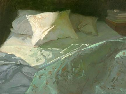Sally Strand ~ Early Hour, Unmade Bed""