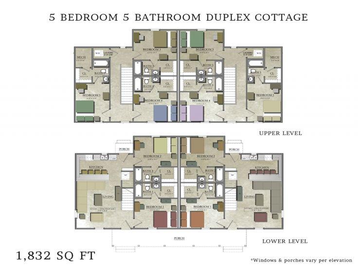 Best 25 duplex house plans ideas on pinterest duplex for 3 bedroom duplex floor plans
