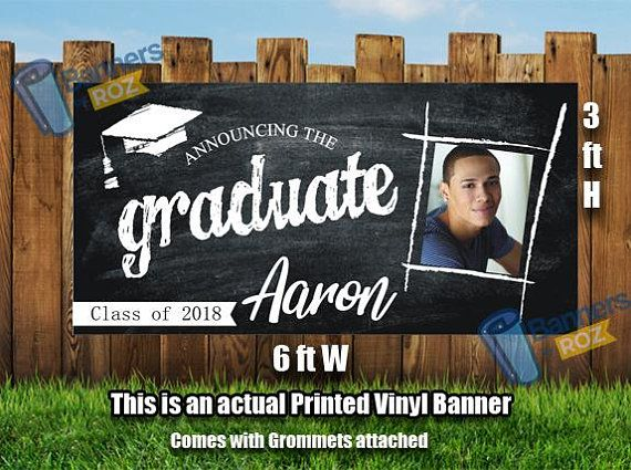 Graduation Photo Banner Chalkboard Personalized Graduation Etsy Graduation Photo Banner Graduation Banner Graduation Poster