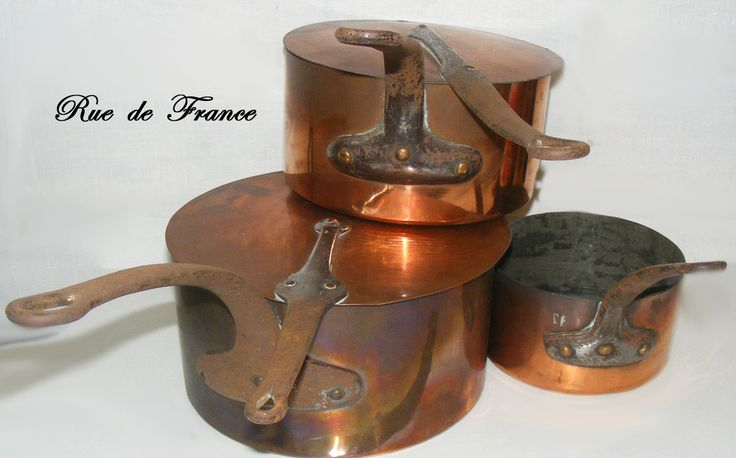 French copper cooking pans
