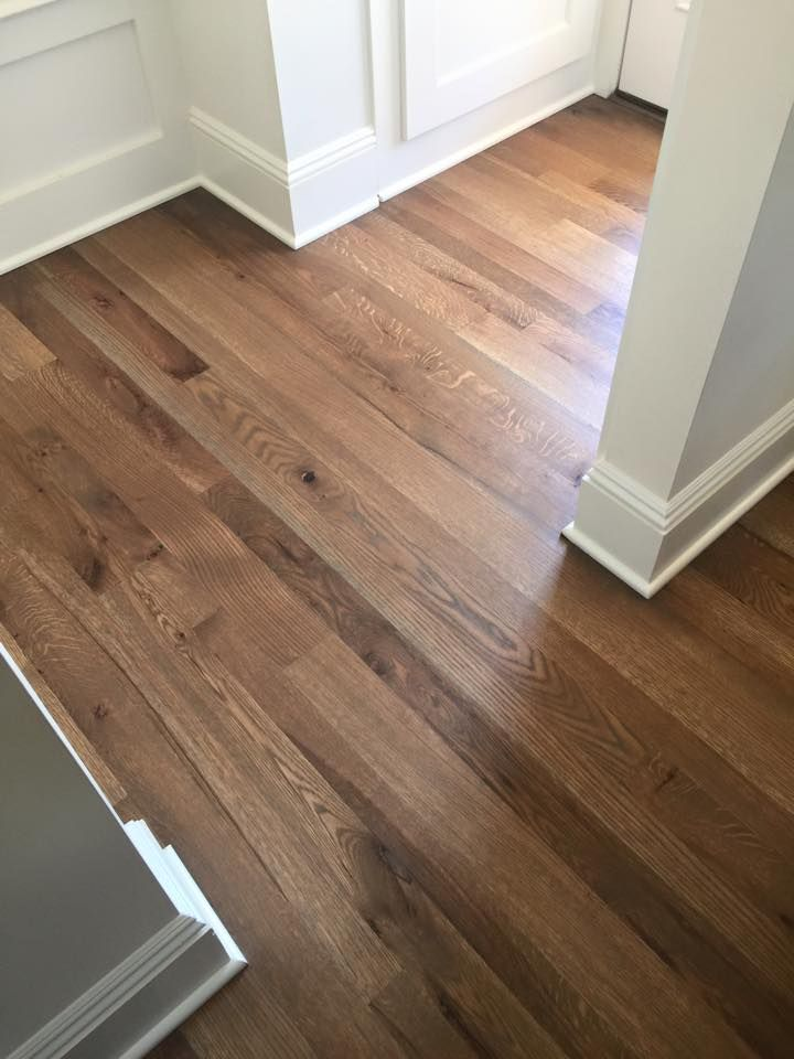 White Oak wood floor finished with WOCA Diamond Oil Concrete Grey. Installed and finished by Floors by the shore. http://www.wocausa.com/shop/product/diamond-oil