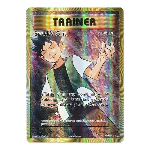 Pokemon TCG XY Evolutions Brock's Grit 107/108 Trainer Full Art Pokemon Singles Unplayed NM