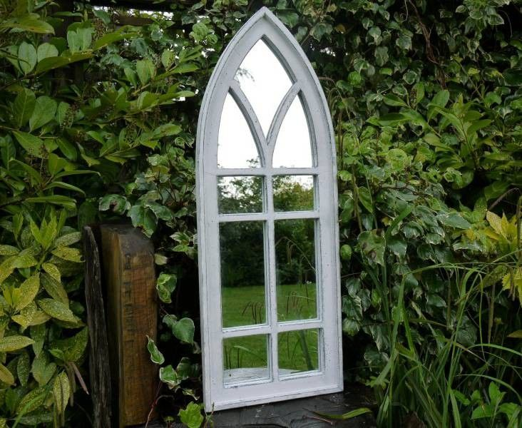 Gothic Garden Decor | gothic glass mirror 9 Pane - rustic indoor or garden decor | Garden ...