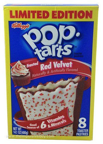Kellogg's Frosted Red Velvet Pop Tarts, Pack of 2 - http://sleepychef.com/kelloggs-frosted-red-velvet-pop-tarts-pack-of-2/