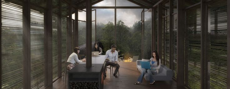 carlo ratti's pankhasari retreat forms a digitally connected environment in the…