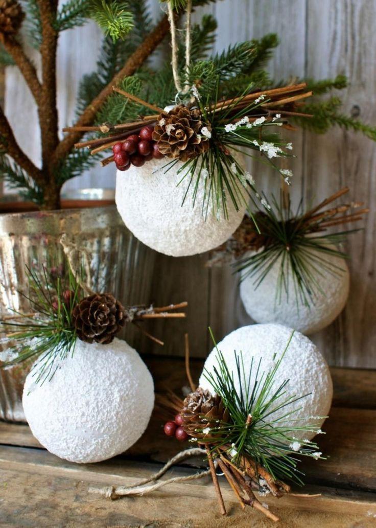 dcorer nol avec des boules de styromousse - Grosses Boules De Noel Exterieur