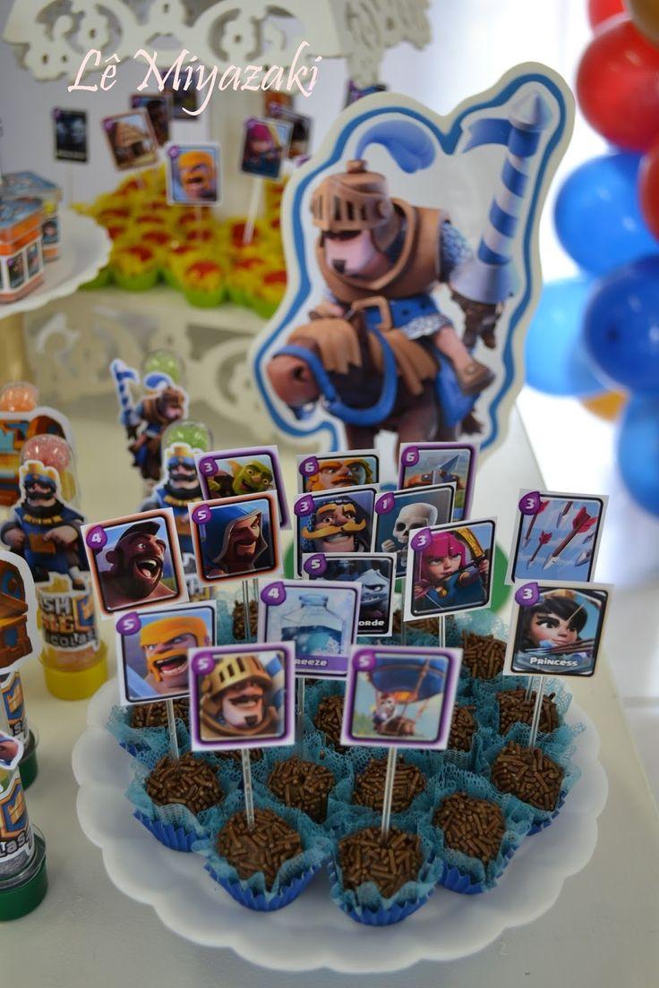 """""""Festa das Cores"""": Decoração Clash Royale"""