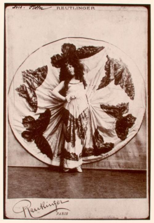 Loie Fuller in her butterfly gown  Photograph by Charles Reutlinger