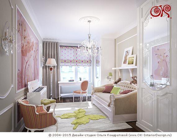 Дизайн детской комнаты для девочки - http://www.ok-interiordesign.ru/ph_dizain-detskoy-komnaty.php