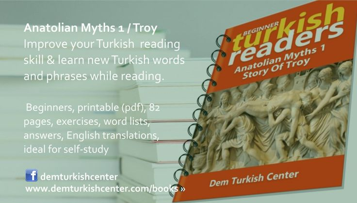 Download Anatolian Myths 1 / Troy is an easy reading books for beginners dor self-study and improve your Turkish language reading skill and learn Turkish words and phrases!