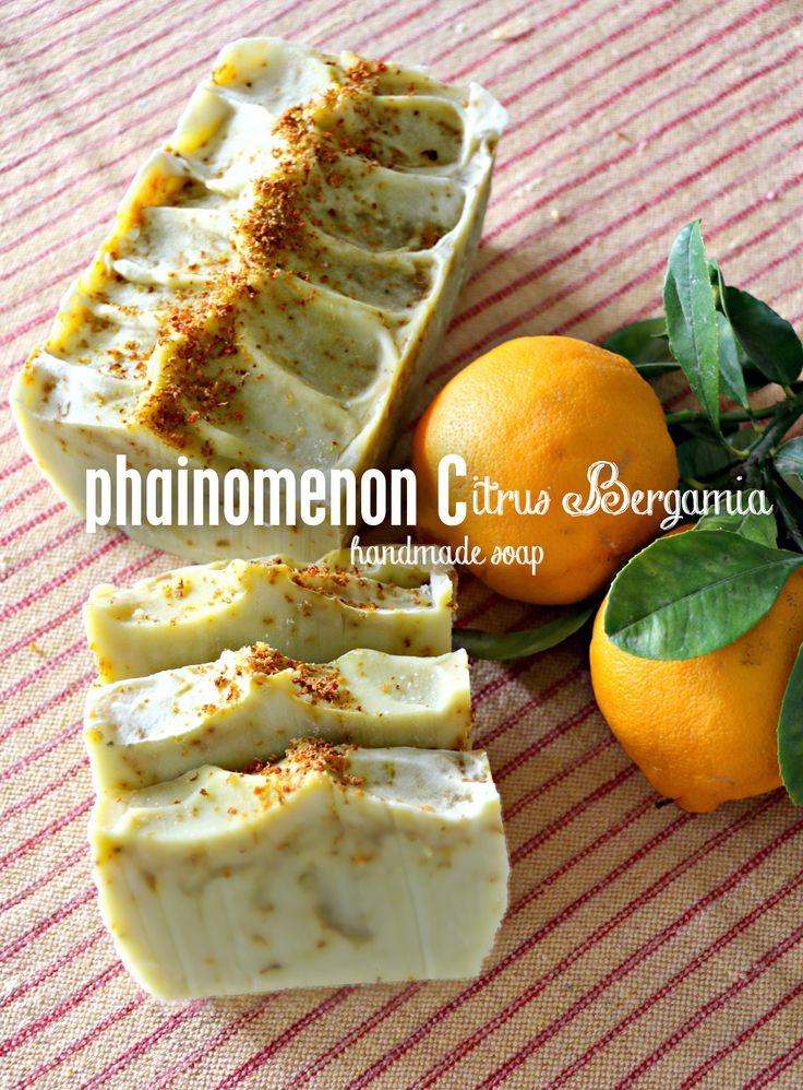 Handmade, luscious, bergamot essential oil soap!  For more, find us on fb: https://www.facebook.com/PhainomenonC