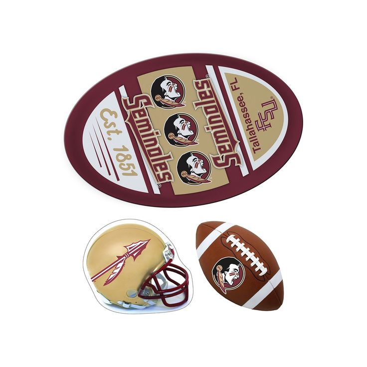 Florida State Seminoles Helmet 3-Piece Magnet Set, Multicolor