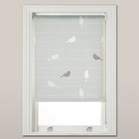 John Lewis Bird On A Wire Daylight Roller Blind Mineral Online At Johnlewis