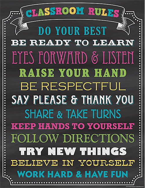 An awesome and motivating Chalkboard Brights Classroom Rules Chart that goes great with coordinating classroom decor