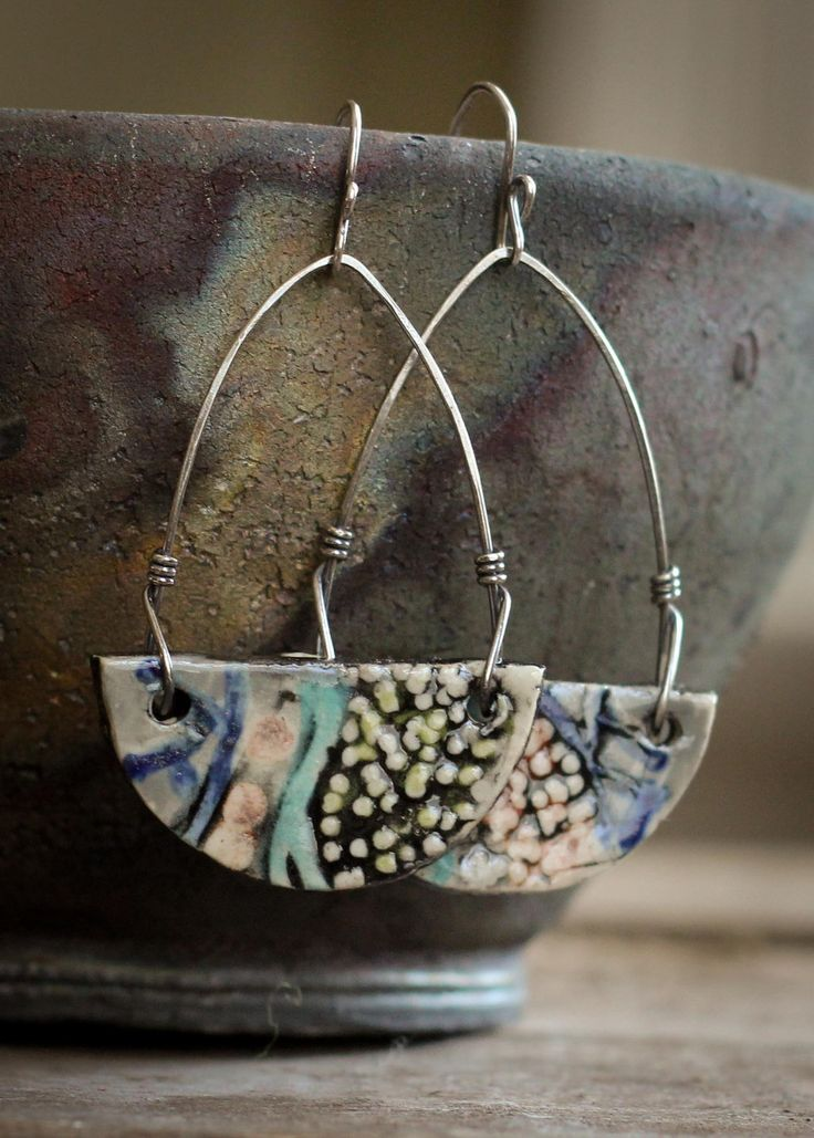 Meteor Ceramic Earrings. Note to self: love the wires and connections