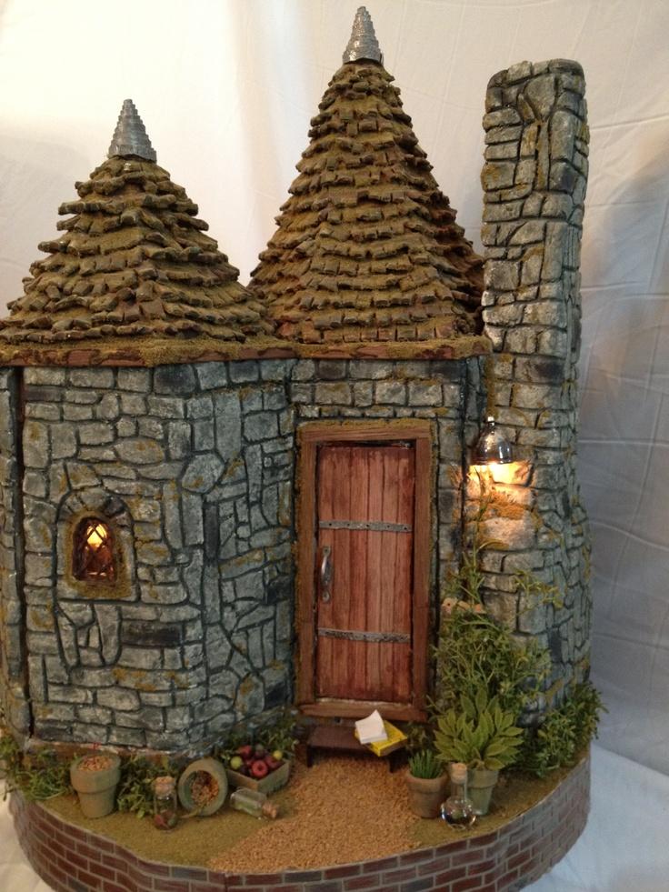 Miniature Hagrids Hut back of house.
