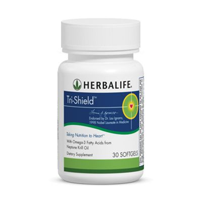 HEART HEALTH: Tri-Shield®: A proprietary formula with 100% pure Neptune Krill Oil (NKO®†), the three heart-healthy compounds in Tri-Shield® help protect your heart.   Key Benefits  Helps maintain healthy cholesterol levels already within a normal range with three heart-healthy compounds.  Provides powerful antioxidant protection for the heart.  ORDER NOW and FEEL THE DIFFERENCE!  https://www.goherbalife.com/goherb/