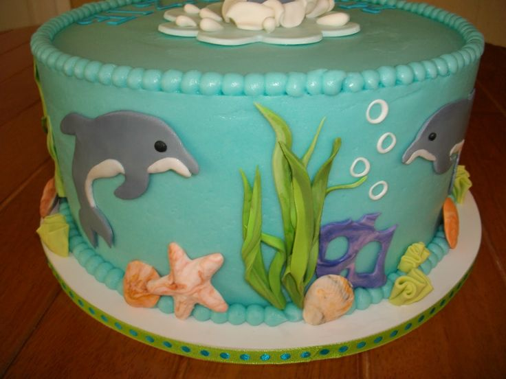 dolphin birthday cakes | My Cakes Emmas 13th Birthday Cake Swimming With Dolphins