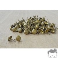 """200 PK CS Osborne Leather Upholstery Tacks Old Gold Speckled 7/16"""" head size"""