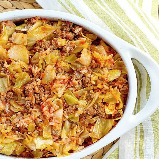 Beef Cabbage Casserole (Think I'll  try cooking cabbage and onion to bring out sweetness first)