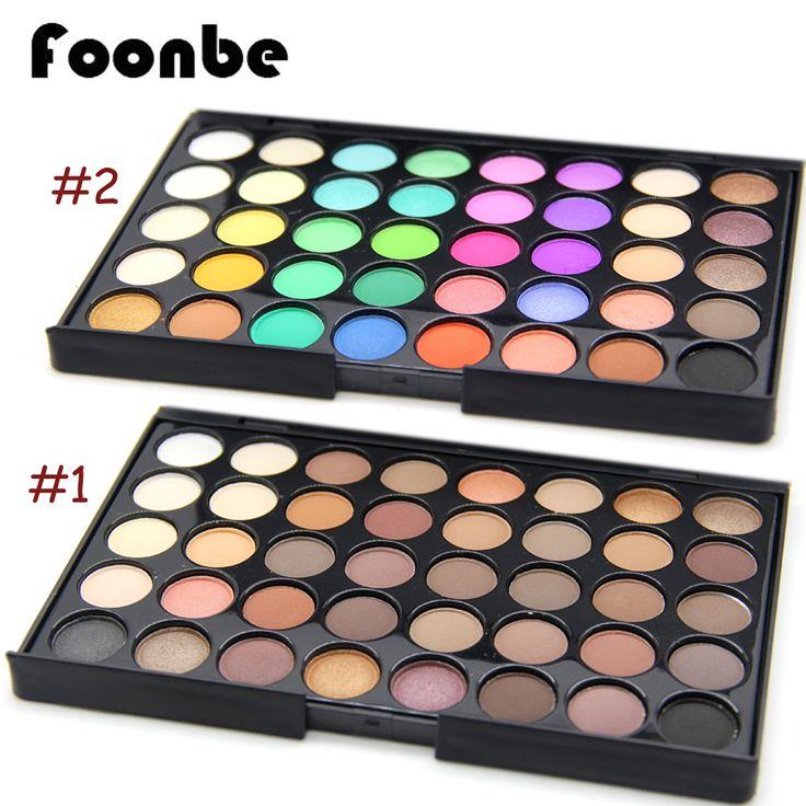 Foonbe 40 warna smoky matte eyeshadow campuran warna baking powder eye shadow palette naked nude glitter kosmetik set