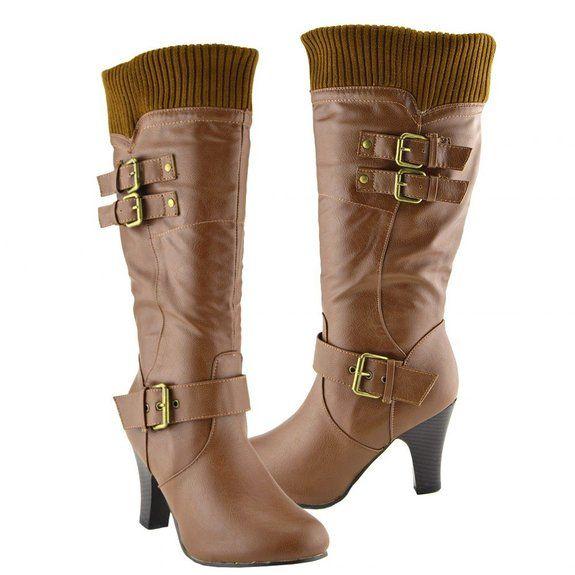 Kick Chaussures talons hauts pour femme pour bottes mi-mollet: Amazon.fr: Chaussures et Sacs