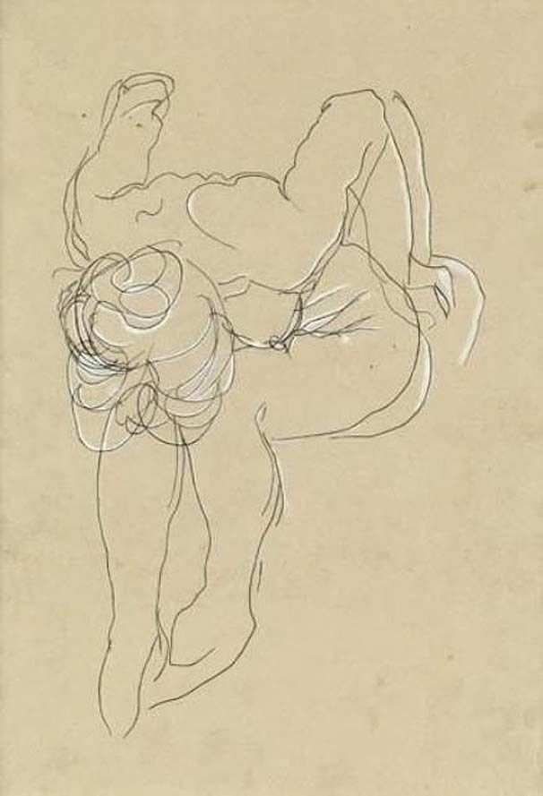 Auguste Rodin, Untitled, (Drawing)